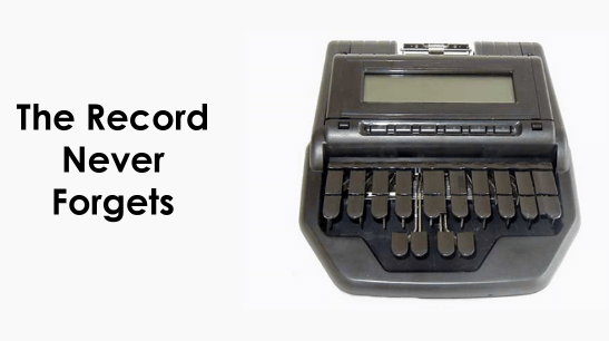Court Reporting Stenographer Machine